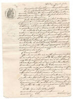 1827 manuscript official document with stamp and signature nice calligraphy