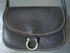 SACHA Made in CANADA Black Pebbled Genuine Leather Belt Pouch MessengerBag Purse