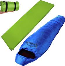Schlafsack und Matte von Norskskin Ultraleicht Set Kleines Packmaß Camping