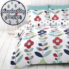 Lulu fleuri simple Ensemble de couverture & taie d'oreiller couette bleu - 2 en