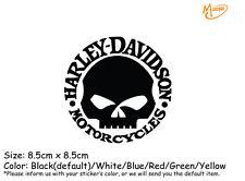 Harley Davidson Reflective  Sticker 8.5cm Model Skull Hubcap  Motorcycle  Decals