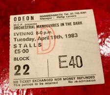 OMD Ticket Stub - London Hammersmith - Dazzle Ships Tour 1983 - Rare Memorabilia