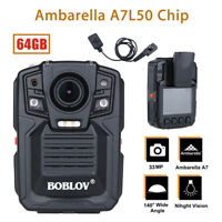 Police Worn Body Camera HD 1296P Security Cam 64GB Motion Detection + HD Lens