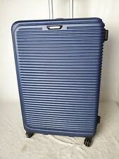 """$380 Travel Select Savannah 28"""" Hard-Shell Spinner Luggage Suitcase Blue Trolley"""