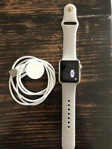 Apple Watch Series 1 38mm Gold Aluminum Case Concrete Sport Band