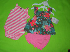 NWT ~ Carter's® ~ Girls 3 piece diaper cover set ~Size 3M ~ MSRP $26
