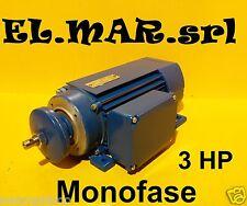 Motore Elettrico Ribassato HP 3 kw 2,2 2800g Banco Sega Circolare Basso Ingombro