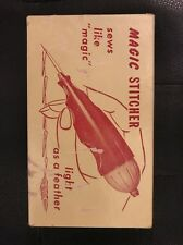 """VINTAGE Magic Stitcher Sewing Tool in Box with Instructions """"sews like magic"""""""