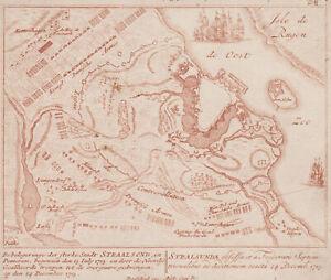 Stralsund Original Kupferstich Pet. Schenk 1720