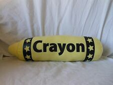 "Oriental Trading Co. CRAYON 12"" Plush Yellow COLOR"