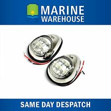 LED Port and Starboard Navigation Lights Pair Chrome - SS Look Shroud 705158