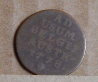1788 Belgian  1 laird coin  Antique copper coin Austro Belguim