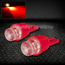 PAIR 8MM ROUND LED T10 194 168 501 W5W RED INTERIOR DOME LIGHT BULB/LAMP/BULBS