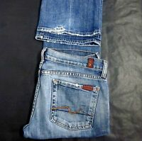 7 For All Mankind Women's BootCut Blue Jeans Size 28 (32x33) Stretch Authentic