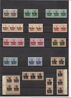 Deutsche Bes. WK I, Belgien aus Mi.10 - 25,  Auswahl Einzelmarken, postfrisch **