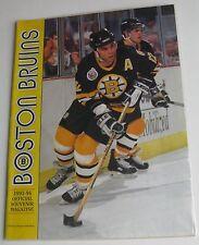 """1993-1994 """"Boston Bruins Souvenir Magazine"""" + 3/3/94  Lineups Sheet LA Kings"""