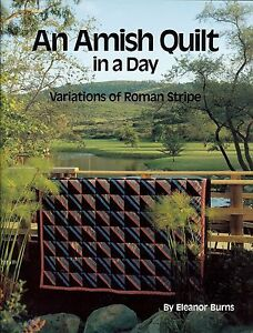 An Amish Quilt in a Day Quilt Book Variations of Roman Stripe by Eleanor Burns