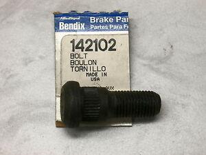 2 Wheel Lug Stud, Studs, OE Black Stud Bendix 142102, Free US Ship