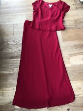 Ladies YVE London Red Top & Skirt Outfit - Size XXXL