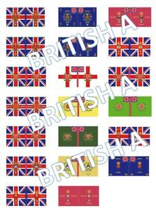 1/72 Napoleonic British A Flags lot