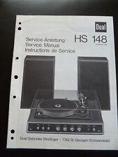 Original Service Manual Service Anleitung DUAL HS 148