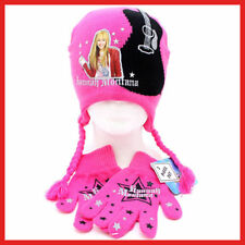 Hannah Montana Gloves,Beanie Set - 2pc Pink Guitar