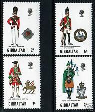 Gibraltar 1970 Military Uniforms (2nd) SG 248/51 MNH