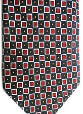 "Hart, Shaffner & Marx Men's Silk Tie 59.5"" X 3.5"" Black w/ multi-color Geometric"