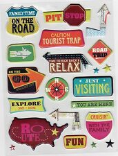 K & Company  Pillow Stickers *PAR AVION  ICONS * Touring -Travelling - Vacation