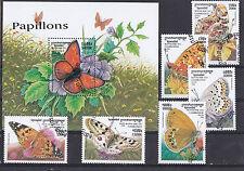 Cambodge 1999 - Block & Sheets - Vlinders / Schmetterlinge / Butterflies