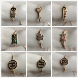 Job Lot 12 x Charm Bracelet. GP Slider Chain.. 15 Designs. UK Seller.