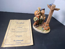 Hummel Crossroads Figurine Signed 331 Goebel Cross Roads With Certificate