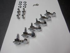 80's Grover mini rotomatic electric guitar tuners 6 in line tuning pegs Nice