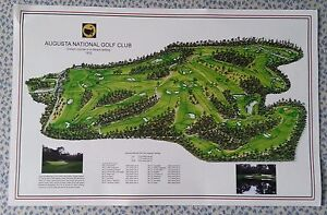 "Augusta National - Vintage Golf Course Maps print (30"" x 19"")"