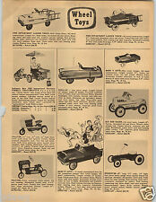 1958 PAPER AD Pedal Car Hot Rod Mark V IX Auto Farmall Tractor Ladder Truck