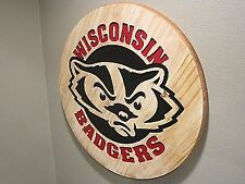 Wooden Wisconsin Badgers Sign - Cnc Carved