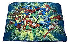 """Dc Comics Originals Fleece Superheroes Throw 45"""" x 60"""" Blanket New"""