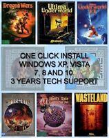 BARD'S TALE 1 2 3, WASTELAND, ULTIMA UNDERWORLD Windows 10 8 7 Vista XP