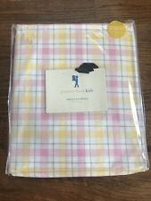 Pottery Barn Kids Spring Plaid Percale Twin Duvet Pink Yellow Green Plaid