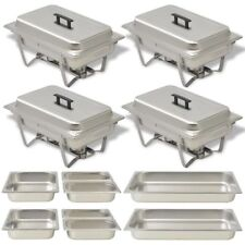 4 Chafing Dish Set Stainless Steel Kitchen Catering Party Hot Food Warmer Pans