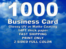 1000 Business Card Print Service Design service is NOT available in this listing
