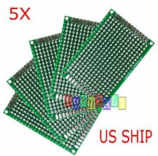 5pcs 4x6 Cm Double Side Diy Prototype Circuit Breadboard Pcb Universal Board