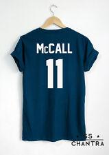 SCOTT McCALL T SHIRT McCALL 11 UNISEX PRINT ON BACK SIDE TSHIRT TEEN WOLF SHIRTS