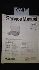 Technics sl-bd10 service manual original repair book turntable Panasonic