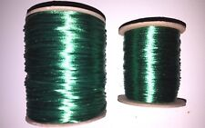 #1 & #2 Green Rayon Rattail Satin Cord Spool 144 Yard Made in USA