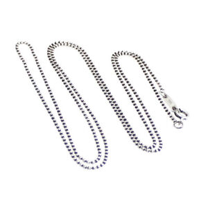 """TIFFANY & Co - Sterling Silver Beaded Chain Necklace 24"""" 61cm - DESIGNER SALE"""
