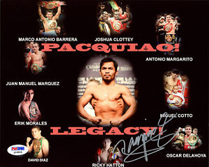 MANNY PACQUIAO AUTHENTIC AUTOGRAPHED SIGNED 8X10 PHOTO PSA/DNA 187689