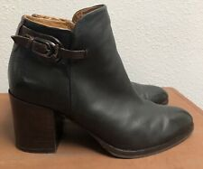 Alberto Fermani Black Leather Ankle Booties Womens Size 40 US 10 Made In Italy