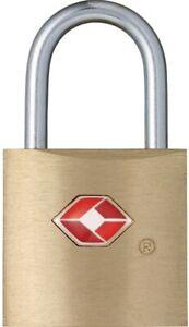 Luggage Suitecase Padlock Brass Keys Lock 20mm Solid USA TSA Approved