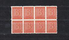 SBZ 8 Pfg. Ziffer 1945** Postmeister 8-er Block Michel 118 AX geprüft (S11801)